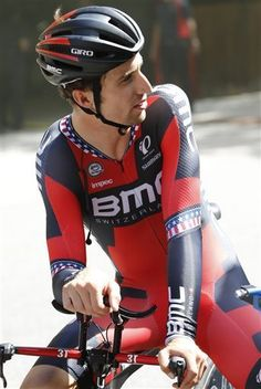 Taylor Phinney speaks to his team after their TT training Richmond 2015 STEVE HELBER — AP Photo