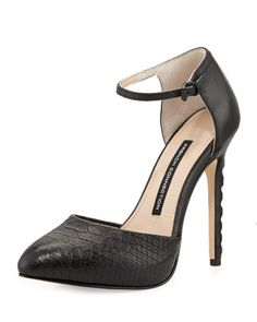 Catia Snake-Print Leather Pump, Black by French Connection at Neiman Marcus Last Call.
