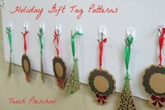 Holiday gift tag patterns