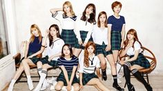 Twice K-Pop Girl Group Members Wallpaper
