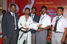 sensei P.K.Gopalakrishnan to present  medal & certificate to My student