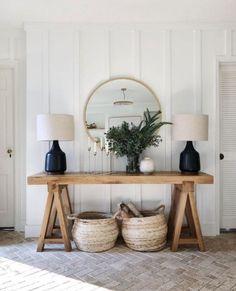 Decor, Home Decor Accessories, Farm House Living Room, Room Design, Console Decoration, Living Room Decor, Home Decor, House Interior, Round Living Room