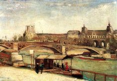 The Pont du Carrousel and the Louvre, 1886, Vincent van Gogh Medium: oil on canvas