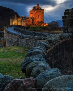 Eilean Donan Castle • Night Lights by Dimitri Vasileiou on 500px