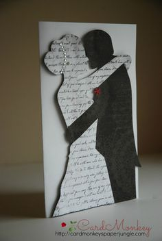 Blow up the silhouettes and have the wedding vows or first dance lyrics as the words to be able to be hung on a wall
