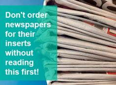 to Properly Order Newspapers for Coupon Inserts How to Properly Order Newspapers for Coupon InsertsHow to Properly Order Newspapers for Coupon Inserts Mo Money, Money Tips, Money Saving Tips, Money Savers, Saving Ideas, Couponing 101, Extreme Couponing, Budgeting Worksheets, Save Money On Groceries