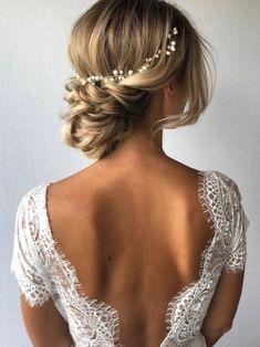 Bridal Hair Updo, Wedding Hair And Makeup, Wedding Hair Accessories, Bridal Headpieces, Hair Makeup, Beach Bridal Hair, Romantic Bridal Hair, Bohemian Wedding Hair, Hair Up Wedding Styles