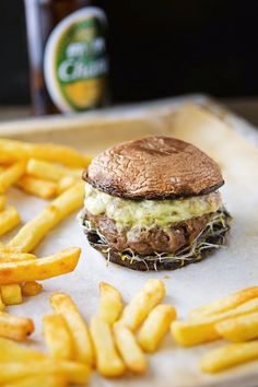 SoCal Guacamole Burgers on Portobello Mushroom Buns