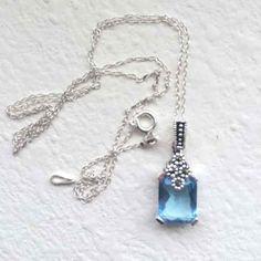 Freeship Blue topaz Sterling necklace - Mercari: Anyone can buy & sell