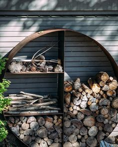 With these cooler mornings heralding change of season, I am looking forward to sitting by the fire with a with a glass of red How I wish our wood stack could look like this?