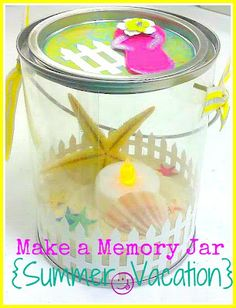 Make a Memory Jar to remember the summer fun! Kids love this.