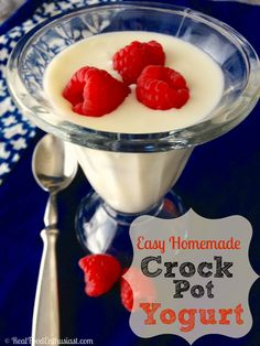 Easy Homemade Yogurt in the Crock Pot   RealFoodEnthusiast.com