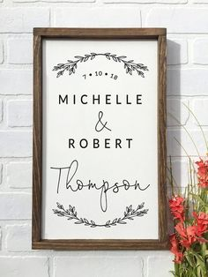 Farmhouse Style Family Name Established Sign. Wedding or Anniversary Sign. This sign is available in Last Name Signs, Family Name Signs, Rustic Signs, Wooden Signs, Family Name Established, Farmhouse Signs, Farmhouse Style, Canvas Signs, Used Vinyl