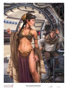Celebration VI art print, by Chris Trevas. Han's vision comes back.
