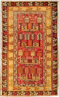 turkish rug template | Click for High Resolution Image of Antique Turkish Ghiordes Rug 1446