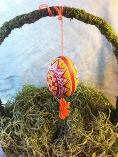 Blown Out Easter Egg Ornament w/ hand painted by elfWorksLane, $34.99 Contest egg #10
