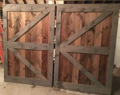 Our Completed Multi Stain Slab British Brace Barn Doors We Cant Wait