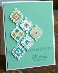 Deb's intricate card is actually quite easy to make with the Mosaic Madness stamps matching punch plus the Modern Mosaic embossing folder. Description from pinterest.com. I searched for this on bing.com/images