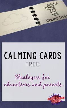 Calming Strategies for Everyone Most children need reminders about how to calm down safely. These free calming cards and the accompanying video provide a great way to help kids self-regulate. Conscious Discipline, Toddler Discipline, Calming Activities, Therapy Activities, Vocabulary Activities, Class Activities, Play Therapy, Speech Therapy, Classroom Management