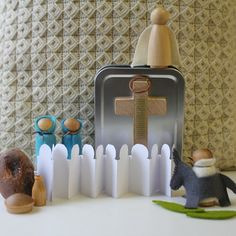 Holy Week Playset, on Etsy.  What an adorable set and fun way to teach of Jesus's death, burial, and resurrection.