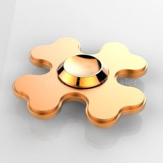 Fidget Hand Spinner Spin Widget Toy Focus ADHD Sufferer Aluminum Alloy Gold Z3N1 with Free Shipping
