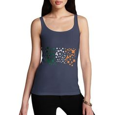 Women's Irish Clover Flag Tank Top