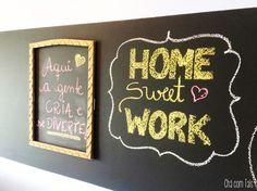 Ambiente pra trabalhar em casa por  R$ 205,00. O Home office da Tais!