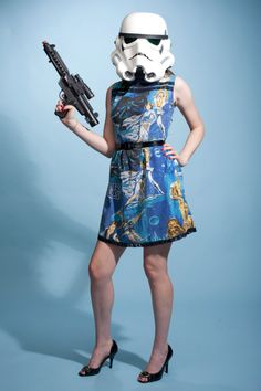 """""""Star Wars"""" fashion goes girly with a collection of duds designed from fake fur and vintage bed sheets. http://cnet.co/MW9fg9"""