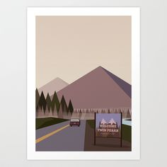 Welcome to Twin Peaks Poster Art Print by Alexander Danling - $15.00