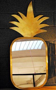 Miroir en forme d'ananas // Mirror like a pineapple