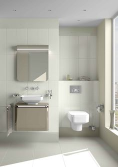 4441 Square bowl, 40 cm, white - A40860 Uno wall-mounted 3 hole basin mixer - A44418 Juno soap dish - A44419 Juno toothbrush holder - 4328 Wall-hung WC pan - 59-003-009 Toilet seat, soft closing - A44424 Juno WC brush holder - A44422 Juno toilet roll holder with cover