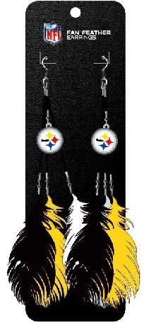 Pittsburgh Steelers Feather Earrings
