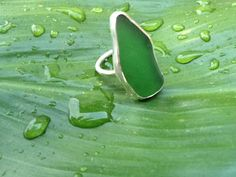 Items similar to Sea Glass Ring on Etsy Sea Glass Ring, Favorite Color, Tuna, Rings, Whale, Green, Gypsy, Glitter, Holidays