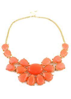 Collar dorado piedras naranja EUR5.82