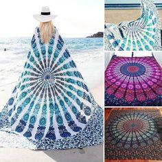 High-quality 59x83'' Bohemian Style Thin Chiffon Beach Yoga Towel Mandala Rectangle Bed Sheet Tapestry - NewChic Mobile