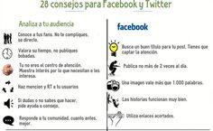 28 valiosos consejos para Facebook y Twitter (infografía)