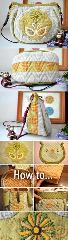 Patchwork & Quilted Bag Tutorial. Photo Sewing Tutorial. Step by step DIY.  http://www.handmadiya.com/2016/02/patchwork-quilted-bag-tutorial.html