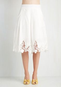 Oh I want this so much. I have a skirt that is nothing similar but too small for me. You buy this and then we can trade whir skirts Team Edwardian Skirt, #ModCloth