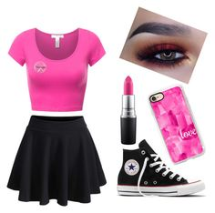 """On Wednesdays we wear pink"" by lea0212-1 on Polyvore featuring art"
