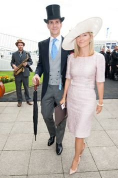 Noblesse & Royautés:  Crown Prince and Crown Princess Pavlos, Epsom Derby, June 2013