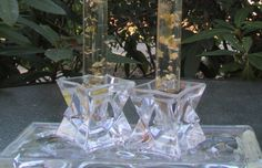 Avon Lead Crystal Star Candle Holders by NaughtyNelliesAttic on Etsy