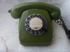 Soviet Vintage Green Rotary Telephone TAp 611 Made in by Astra9