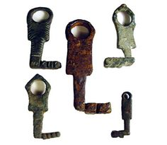 A collection of bronze Roman keys from about 200 AD.