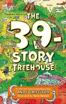 J FIC GRI. Having expanded their treehouse to an astonishing 39 stories, Andy and Terry describe the invention of their Once-Upon-a-Time machine, which they have designed to write and illustrate their stories for them.