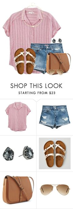 """""""Love sleeping late"""" by victoriaann34 ❤ liked on Polyvore featuring Kendra Scott, American Eagle Outfitters, Gap, Ray-Ban and Ela Rae"""