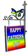Happy Father's Day on swinging garden sign with butterfly