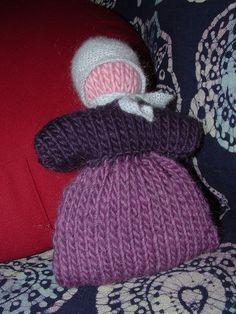 knit baby bunting by happydaymomma, via Flickr