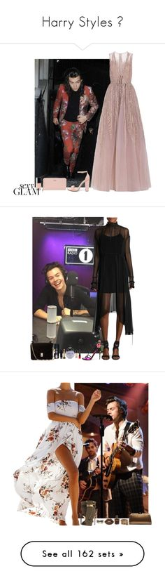"""""""Harry Styles 💚"""" by ambere3love34 ❤ liked on Polyvore featuring OneDirection, harrystyles, fashionset, polyvoreset, beauty, Elie Saab, Steve Madden, Kate Spade, Magda Butrym and Dolce&Gabbana"""