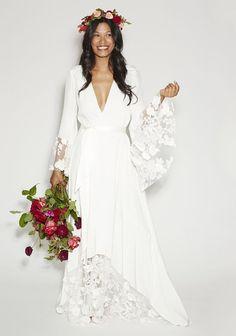 Mariée boho chic / hippie - Inspiration pour un mariage bohème