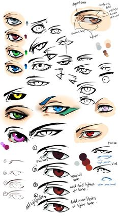Anime eyes and Tips by =moni158
